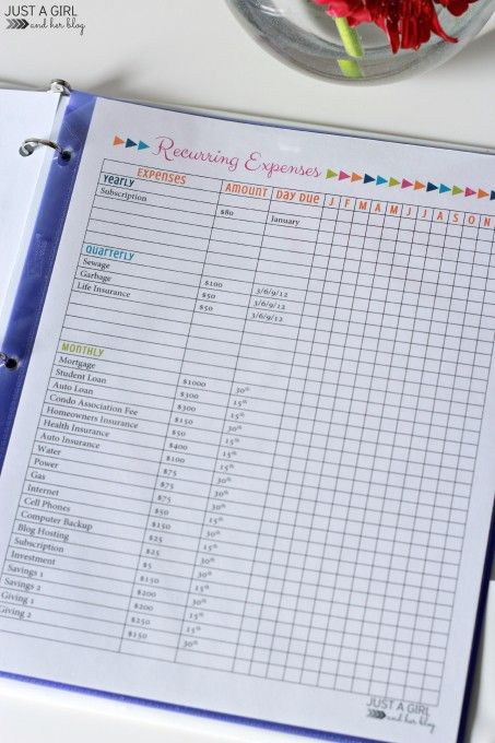 Our Secret Weapon for Saving Money: The 2015 Budget Binder - Just a Girl and Her Blog