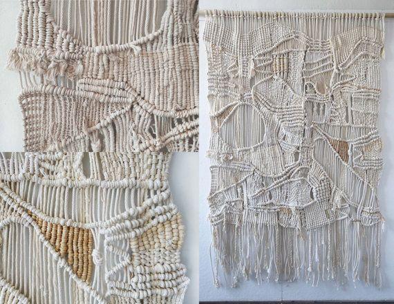 KOMMISSIONEN  Eine von einer Art: -Macrame Wand Haengen, Pflanzer, Raumteiler, Bildschirm -Weberei Wand hängen, Wandkunst -Rope, Fiber Kunst  Mit