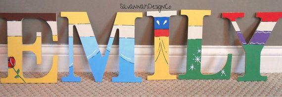 Disney Princess Letters Handpainted Letters by SavannahDesignCo