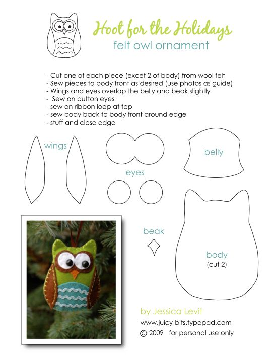 Felt Owl Crafts - i should make one of these for every single one of my students! they'd really remember me (well mostly my crazy owl classroom!)