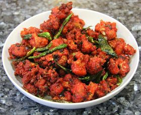 This is a very popular Indian appetizer served in most restaurants and fast food chains.It is made by deep frying cauliflower coated in a m...