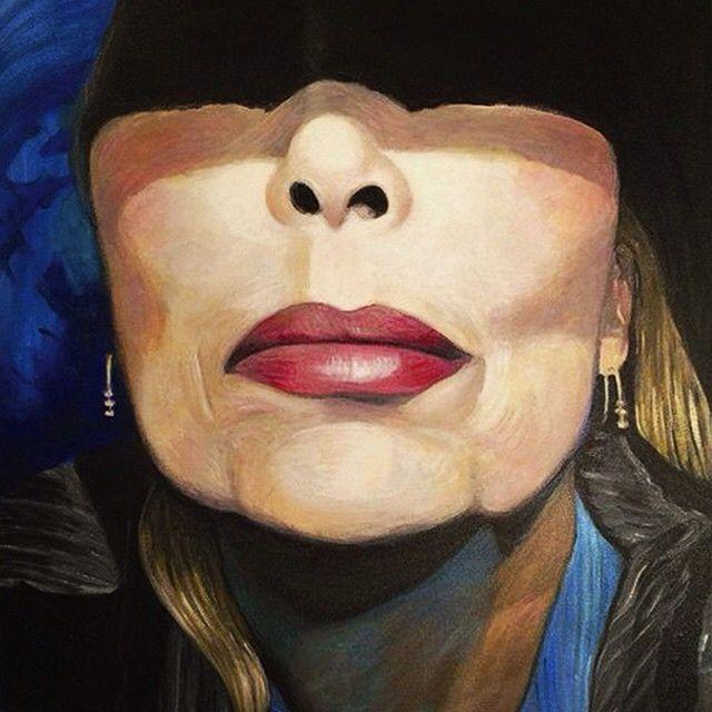 Joni Mitchell. Self portrait.