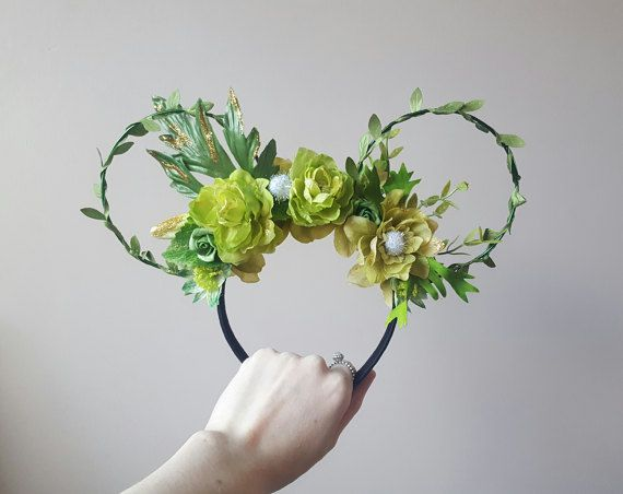 Check out this item in my Etsy shop https://www.etsy.com/uk/listing/506776183/tinker-fairy-floral-mouse-ears
