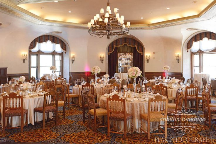 The #Alhambra Room at @FairmontBanff in #Champagne gold with blush pink floral arrangements by #CreativeWeddingsFloralDesigns (photo by Peak Photography) #CreativeWeddings #BanffWeddingPlanner #CanmoreWeddingPlanner http://www.creativeweddings.ca
