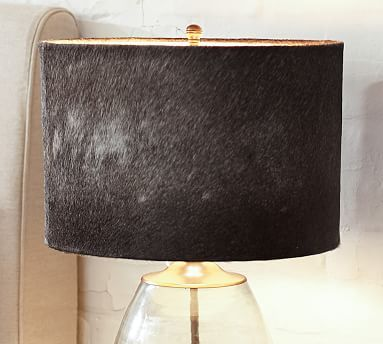 46 best shades accessories lamp shades images on pinterest rhea cowhide drum lamp shade medium gray mozeypictures Images