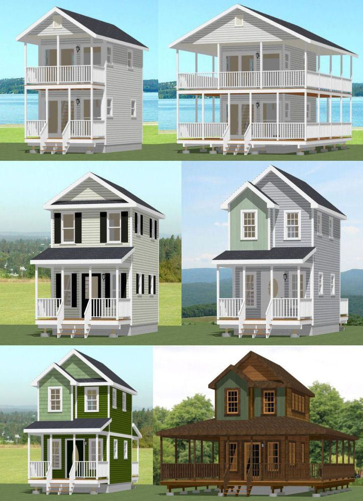 Tiny House Plans Home: Details About 12x20 Tiny Houses -- PDF Floor Plans