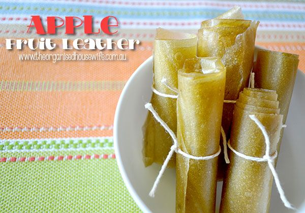 Apple Fruit Leather | @The Organised Housewife