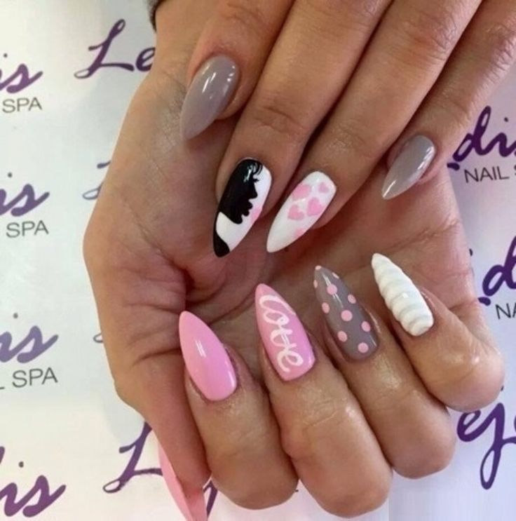 Dziewczęce i urocze paznokcie