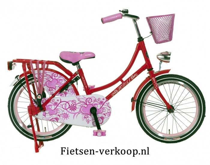 Omafiets Donkerroze 18 Inch | bestel gemakkelijk online op Fietsen-verkoop.nl