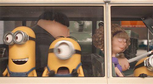 Animated GIF: Stuart freak out..