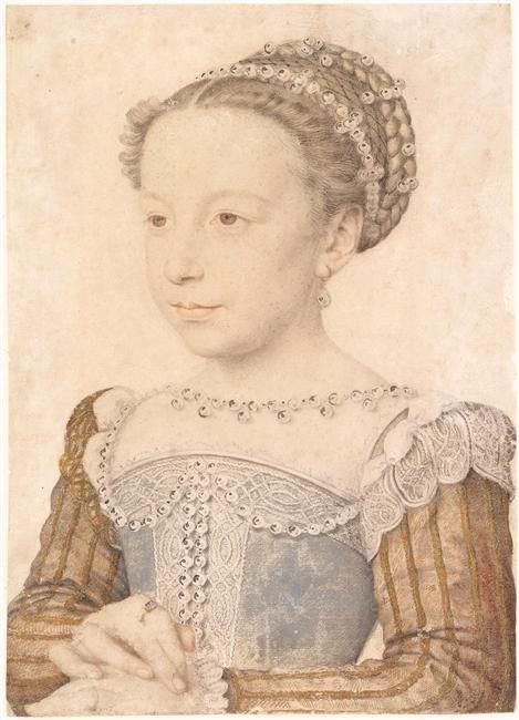Clouet Margerite of Valois - Клуэ, Франсуа — Википедия. Портрет Маргариты Французской в детстве, 1560
