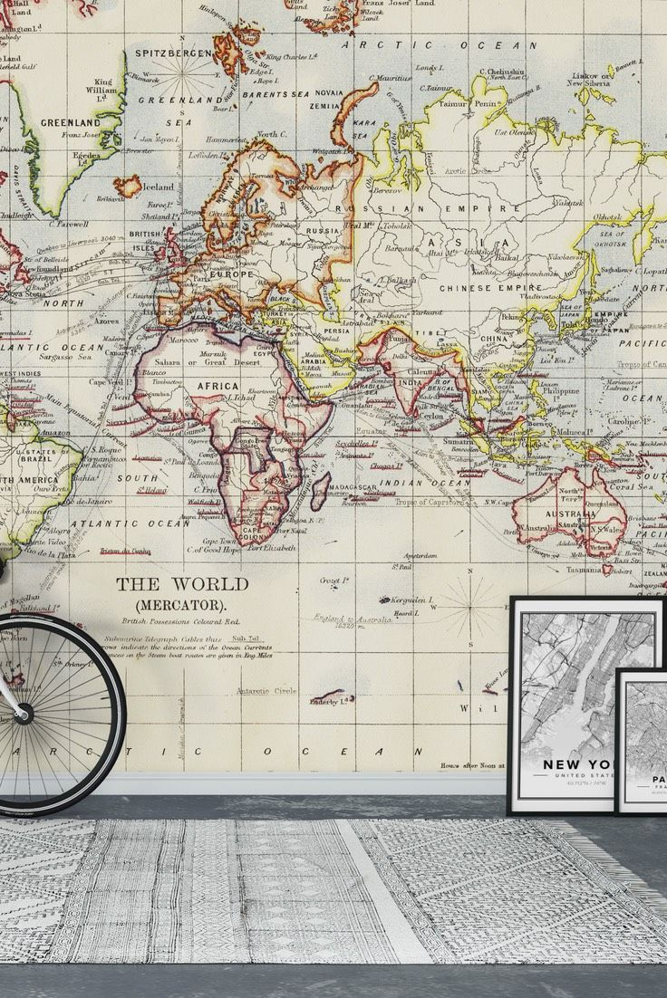 33 best map wall murals images on pinterest photo wallpaper old world map wall mural wallpaper