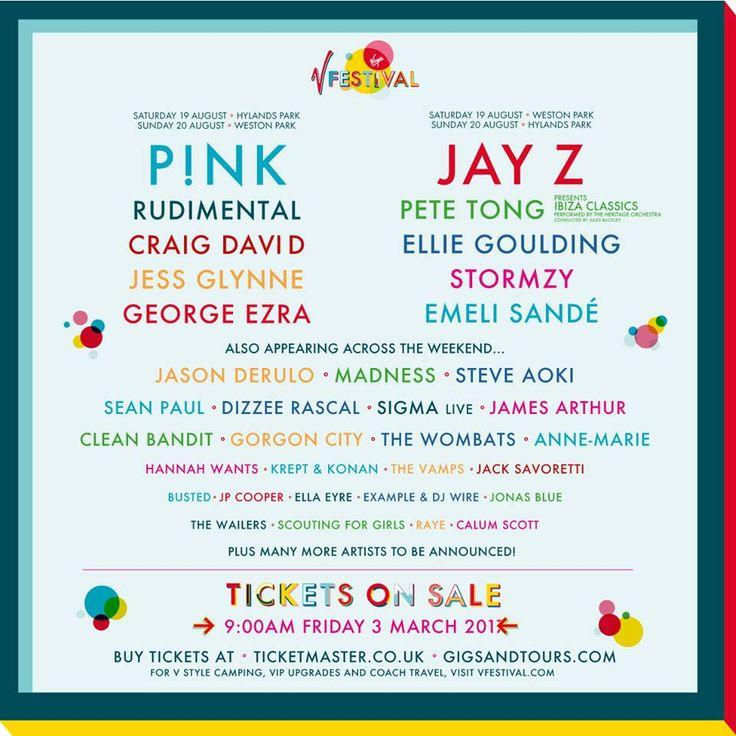 V Festival Line Up 2017