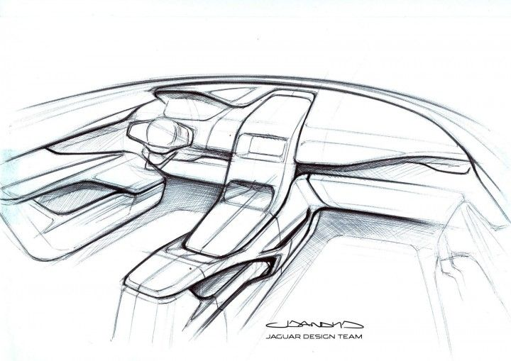 Jaguar F Pace Interior Design Sketch