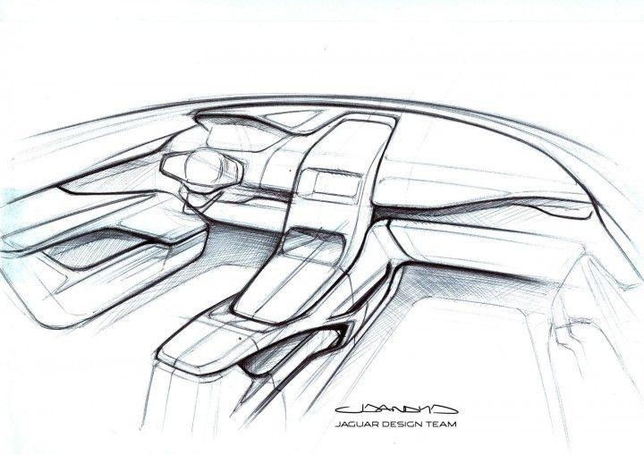 Jaguar F Pace Interior Design Sketch