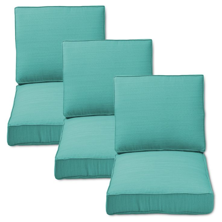 Belvedere 6pc Outdoor Replacement Sofa Cushion Set - Turquoise - Threshold