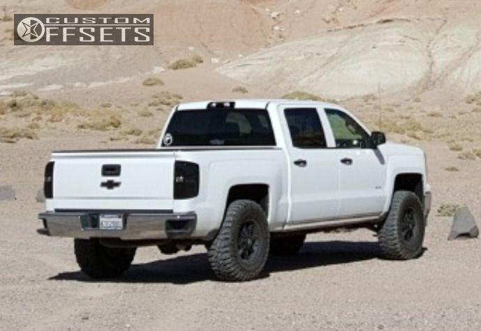 4 2014 Silverado 1500 Chevrolet Leveling Kit American Outlaw Deputy Black Aggressive 1 Outside Fender