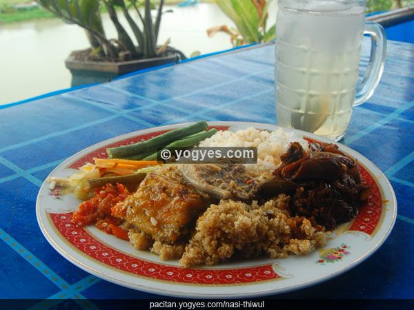 INDONESIA : Nasi Tiwul (with shark as the side dish) Authentic food from Pacitan