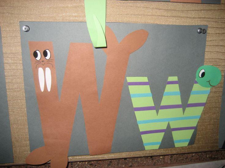 """Ww"" Letter of the week art project"