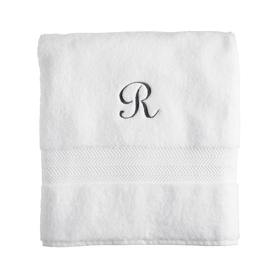 Turkish Hydro Cotton Bath Towel, Set of 4 | Mark and Graham, shelley allegro script - style 540, AC