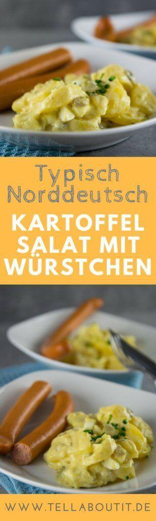 So muss Kartoffelsalat schmecken, der norddeutsche Kartoffelsalat wird mit Mayonnaise zubereitet und mit diesem Rezept gelingt er garantiert. #kartoffel #foodporn #kartoffelsalat