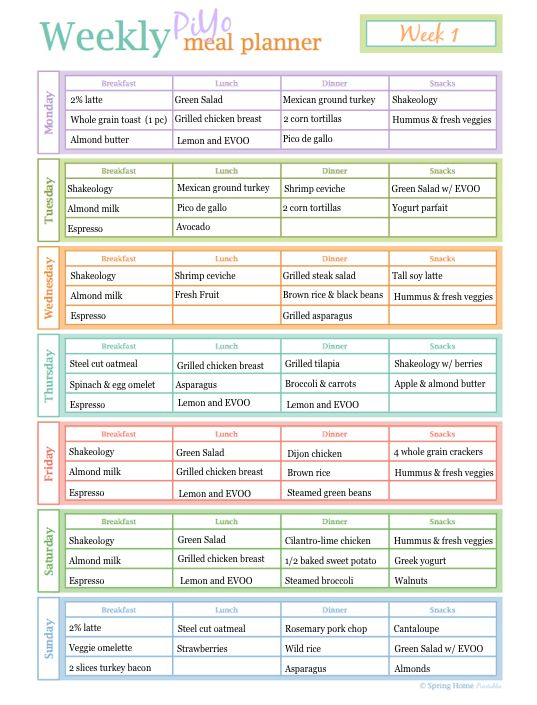 Healthy PiYo Meal Plan and Recipes