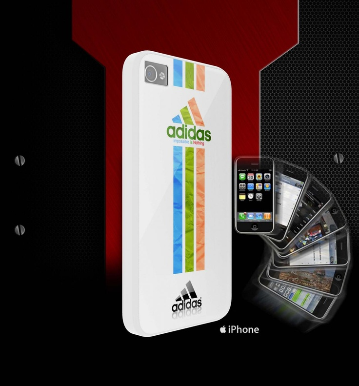 adidas rainbow - white for iphone 5 and