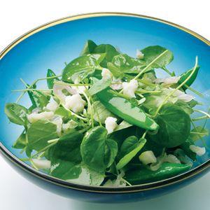 Watercress and Sugar Snap Salad with Warm Sesame-Shallot Vinaigrette