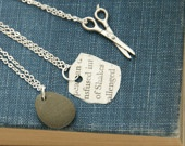 Rock Paper Scissor Necklace. $21.00, via Etsy.