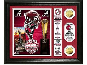 Alabama Crimson Tide 2015 College Football National Champions Banner Gold Coin Photo Mint