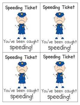 Writers Licenses and Speeding Tickets