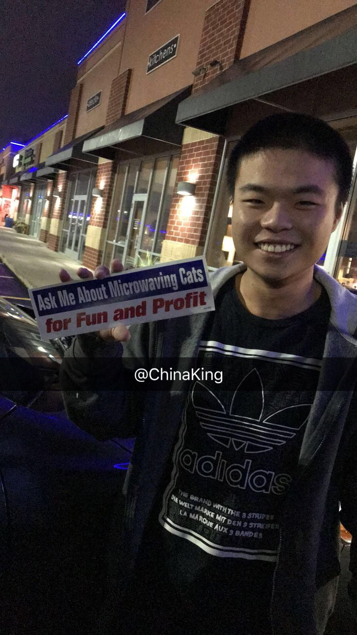 I deliver for my local Chinese restaurant and my Chinese co-worker has this bumper sticker on his car