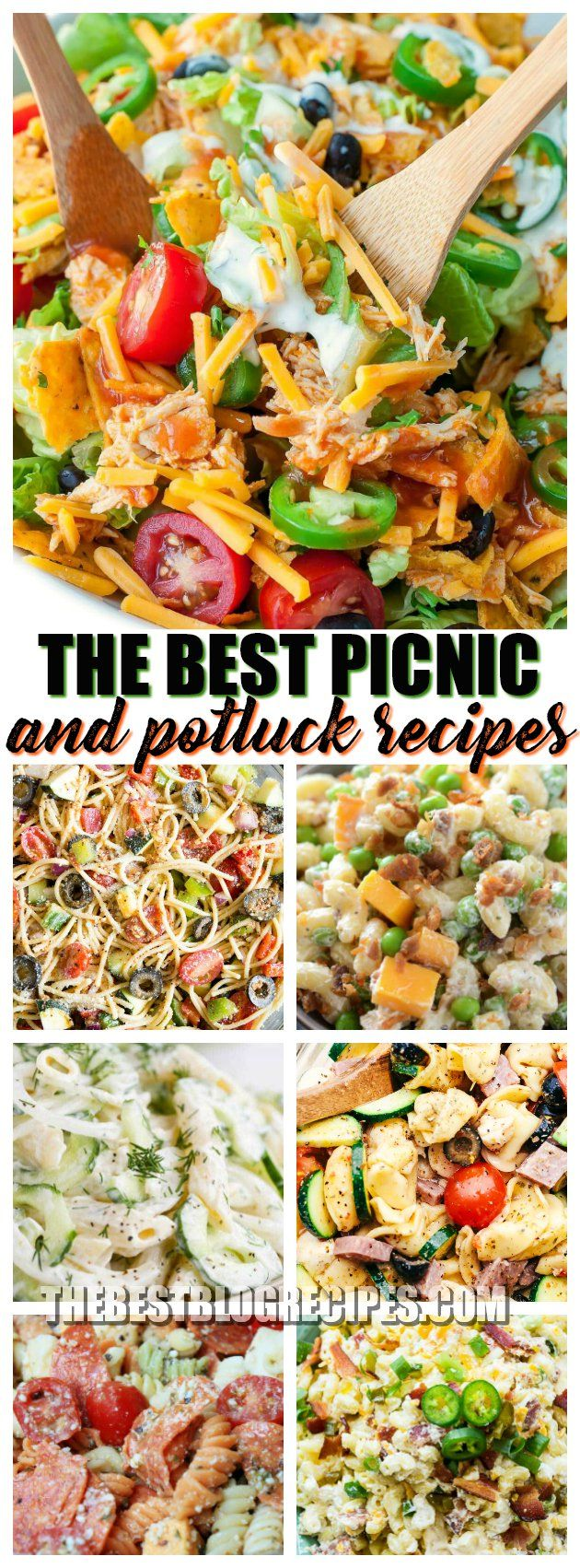 The Best Picnic and Potluck Recipes are made using quick and easy ingredients. They are budget friendly and make the perfect side dishes for all of your picnics, potlucks, and church gatherings! via @bestblogrecipes
