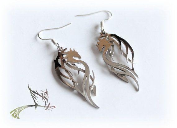 Earrings Dragon Guardian by ManikID on Etsy