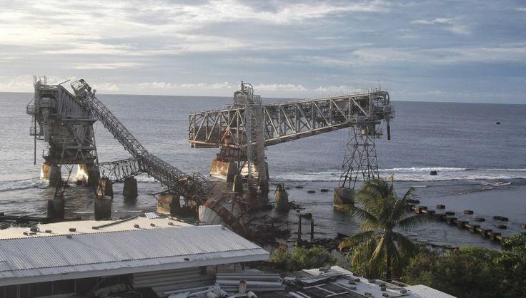 The cantilevers - ghosts of former affluence #Nauru  A Sunset On Nauru http://jouljet.blogspot.com/2014/01/a-sunset-on-nauru.html