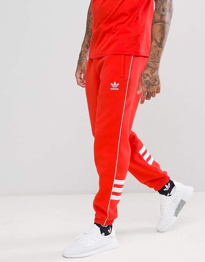 dc42a07d3cc adidas Originals Authentic Joggers In Red DH3859 | Air jordans in ...