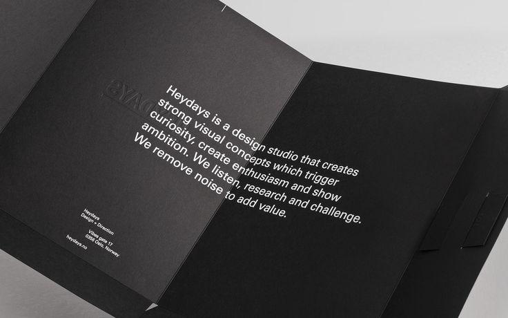 Heydays folderDesign Inspiration, Heydays Studios, Visual Identity, Corporate Identity, Brand Design, Graphics Design, Identity Design, Prints, Editorial Design