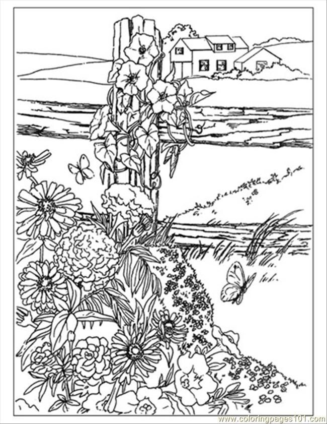 wildflowers preview coloring page free printable coloring pages