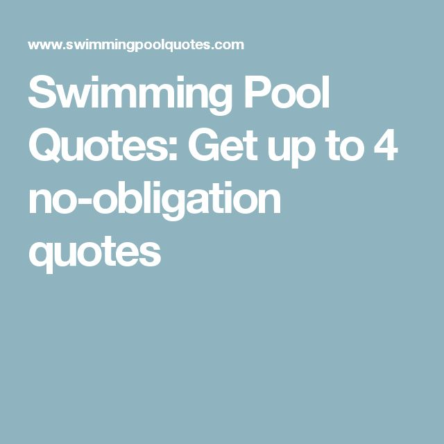 Incroyable Swimming Pool Quotes: Get Up To 4 No Obligation Quotes