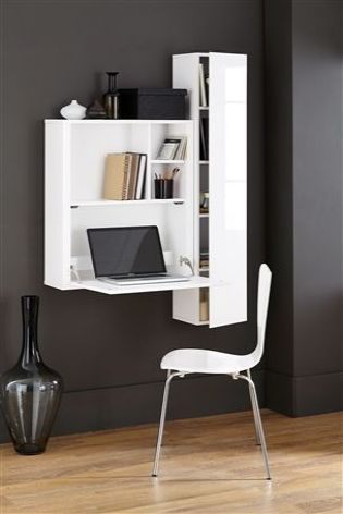 Buy Valencia White Drop Down Desk From The Next Uk Online