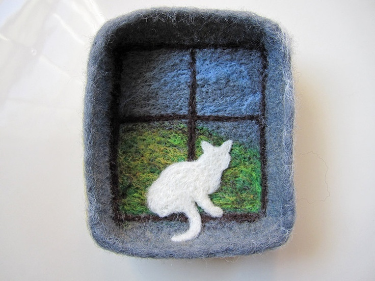 how to make a needle felted bowl