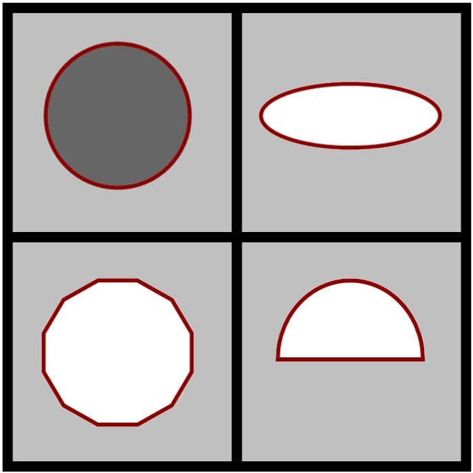 Which One Doesn't Belong: shapes
