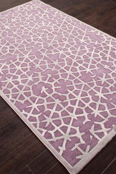 Contemporary Tribal Pattern Rayon & Chenille Area Rug - Gray