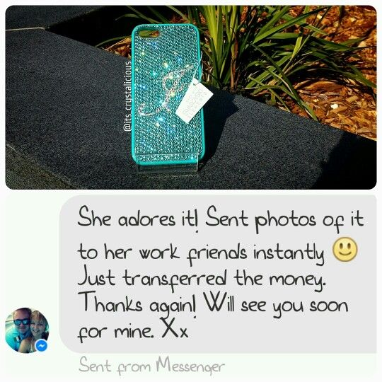Love all the positive feedback I get from my happy customers, it makes all the hours of work worth it   #happycustomer #feedback #positive #lovemyjob #worthit #swarovski #swarovskielements #iphonecover #sparkly #custom #couture #birthday #gift #bling #crystals #crystalicious #designer #fashion #blogger #stylish #tiffanyblue #initial #blingphone #diamonds #glam #handmade