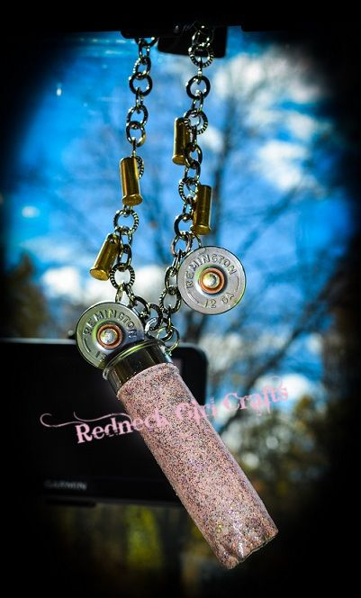 Girly redneck rear view mirror charms. Want! May try and make one similar outta my own shells!