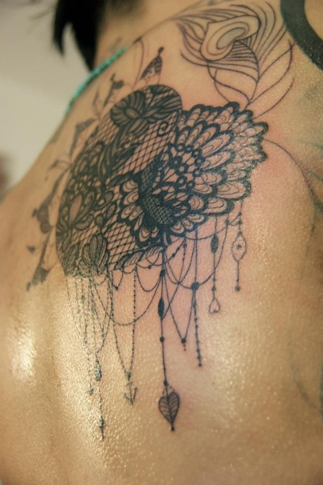 I've been looking everywhere for the right kind of lace I would want in my garter tattoo that I've been planning and this is it!