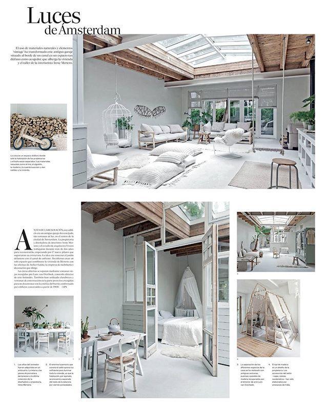 Echt Scandinavisch... rustig en natuurlijk interieur! Wel meer open ruimte dan wij hebben. Ook leuk als sfeer-idee voor het tuinhuisje met al die kussens. Van Sukha op Instagram.