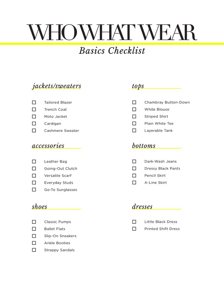 Your Ultimate Basics Checklist | WhoWhatWear.com