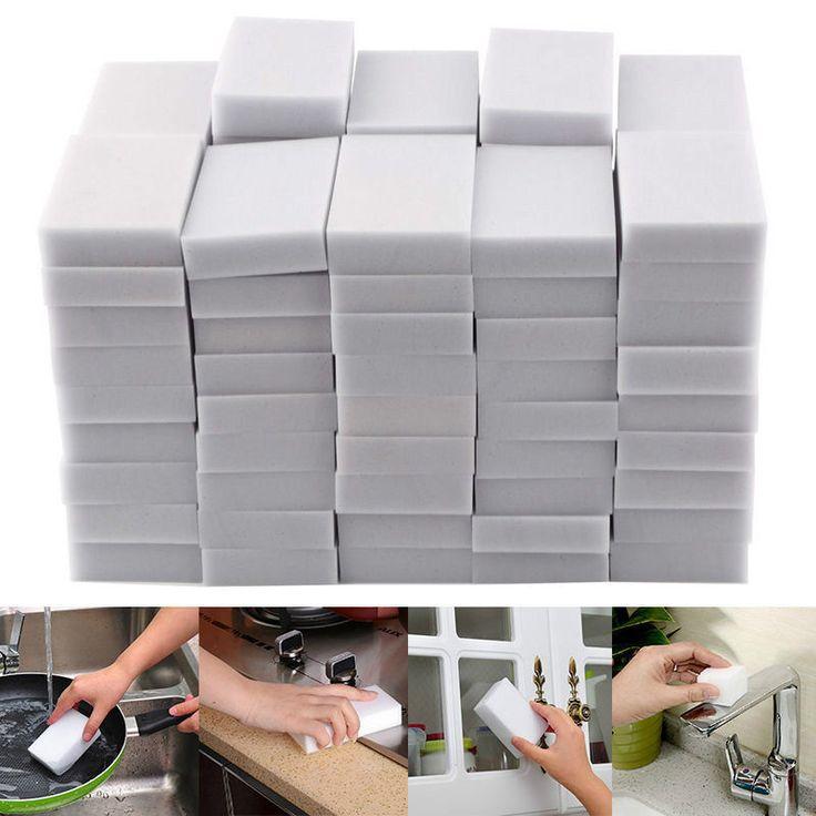 20X Magic Sponge Eraser Multi-functional Melamine Foam Home Cleaning Cleaner Pad #Unbranded