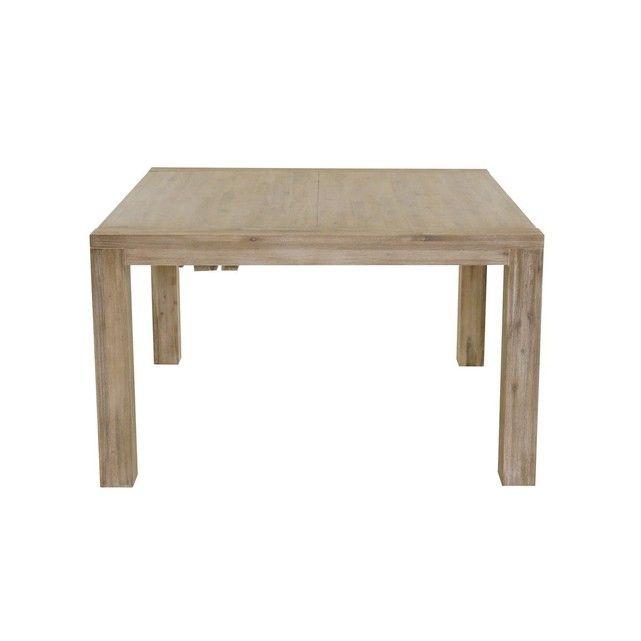 Table Repas Carrée 130 X 130 Cm Avec Allonge En Acacia Nevada COULEURS DES ALPES